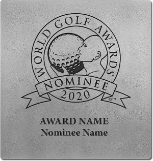 World Golf Awards nominee wall plaque