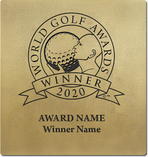 World Golf Awards winner wall plaque