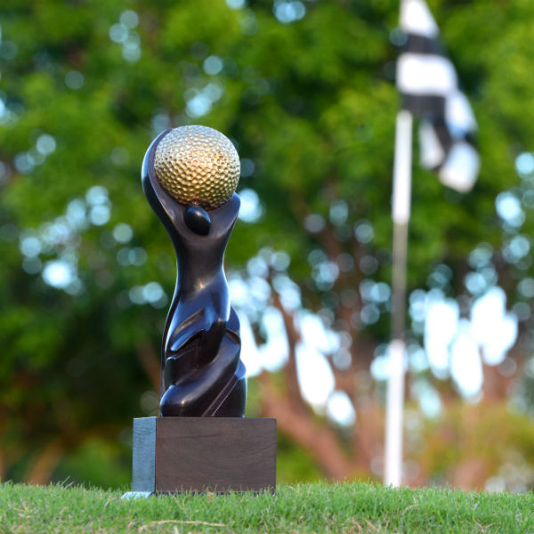 World Golf Awards winner trophy